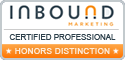 Inbound Marketing Certification from HubSpot's Inbound Marketing University